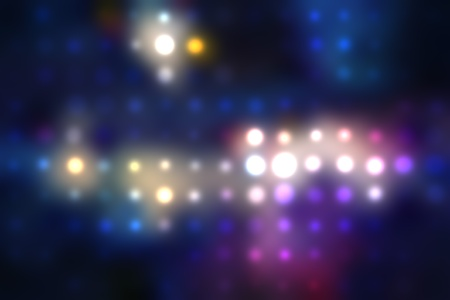 illustration of blurred neon disco light dots pattern on dark background Stock Illustration - 12857578