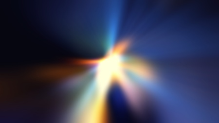 Colorful Ray of  Lights explosion with lens glare effect photo