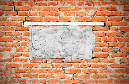 obsolete brick wall texture pattern (vignette) photo