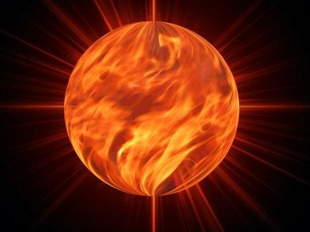 sun burning - surface solar explosion illustration illustration