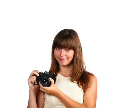 girl face isolated photo