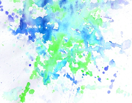 liquefy: Abstract blue watercolor background spots and blots Illustration
