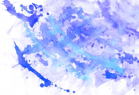 Abstract blue watercolor background spots and blots Vector