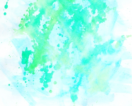 Blue spot, watercolor abstract hand painted background Vector