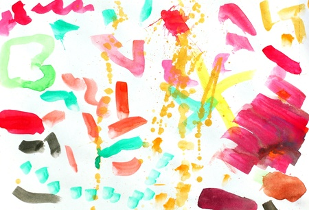 Colorful watercolor brush strokes Stock Vector - 15966009