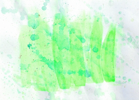 spot art watercolor green texture on a white background