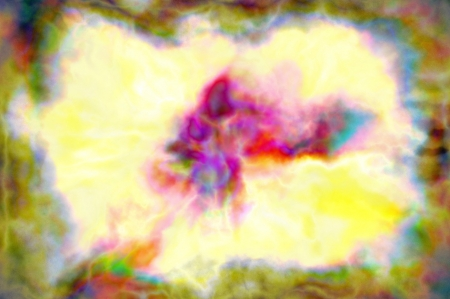 Abstract gouache paint yellow dominante color digitally generated photo