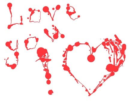 Valentine Heart of  blots on white Stock Vector - 16122220