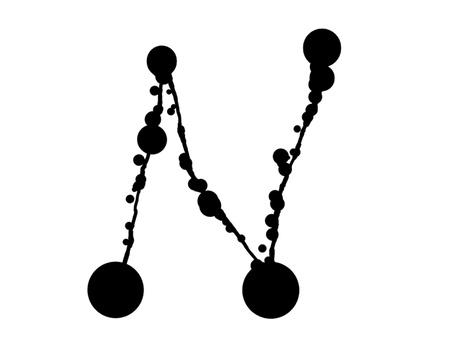 symbol N - Hand drawn abc Stock Vector - 16112917