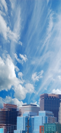 Apartments against big sky Stock Photo - 16490479