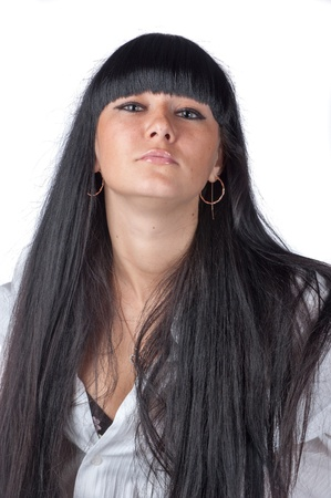 Beautiful Brunette Women. Long Healthy Hair. Stock Photo - 17445323