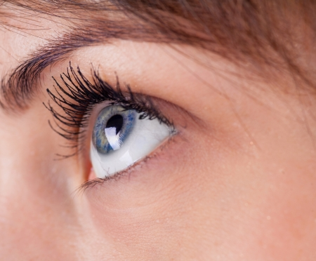 dilate: attractive woman eyes closeup part of face
