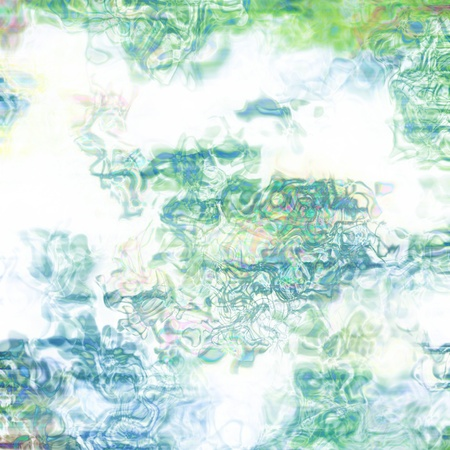 Grunge paint textured background with light and dark green brushstrokes photo