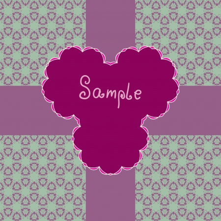 Red Pink Vector ornate frame with sample text  Perfect as invitation or announcement  Background pattern is included as seamless with clipping path  All pieces are separate  Easy to change and edit Stock Vector - 17992388