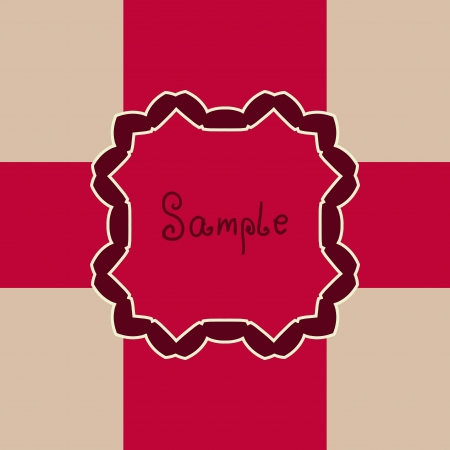 Red Vector ornate frame with sample text  Perfect as invitation or announcement  All pieces are separate  Easy to change colors and edit Stock Vector - 17992389