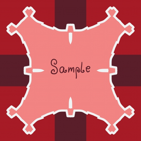 Pink Red Vector ornate frame with sample text  Perfect as invitation or announcement  All pieces are separate  Easy to change colors and edit Stock Vector - 17992373