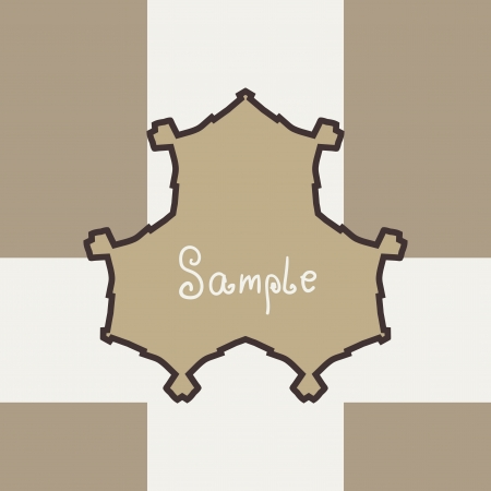Brown Vector ornate frame with sample text  Perfect as invitation or announcement  Background pattern is included as seamless  All pieces are separate  Easy to change colors and edit Stock Vector - 17992358