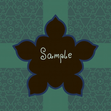 Green Floral Vector ornate frame with sample text  Perfect as invitation or announcement  Background pattern is included as seamless  All pieces are separate  Easy to change colors and edit  Vector