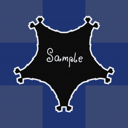 Blue Black Vector ornate frame with sample text  Perfect as invitation or announcement  Background pattern is included as seamless  All pieces are separate  Easy to change colors and edit Stock Vector - 17992362