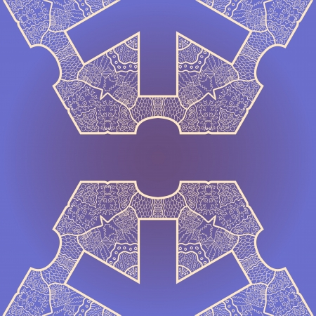 Oriental mandala motif round lase pattern on the violet background, like snowflake or mehndi paint Stock Vector - 18215832