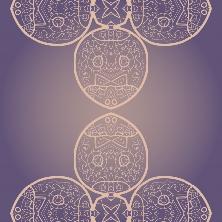 Oriental mandala motif round lase pattern on the violet background, like snowflake or mehndi paint Stock Vector - 18215795