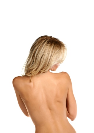 shirtless blonde women  back view  Stock Photo - 18690267