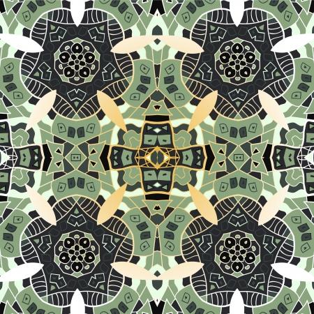 realización: Ornamentales patr�n transparente de encaje cuadrado, cuadrados de fondo, encaje hecho a mano de ganchillo, de encaje con motivos arabescos oriental ornamento tradicional en la realizaci�n moderna Vectores