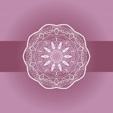 Oriental mandala motif round lase pattern on the violet background, like snowflake or mehndi paint Stock Vector - 18322382