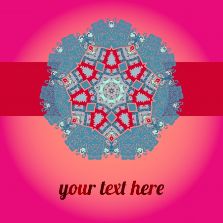 Red Pink  ornate frame with sample text  Perfect as invitation or announcement  Background pattern is included as seamless with clipping path  All pieces are separate  Easy to change and edit Stock Vector - 18471757