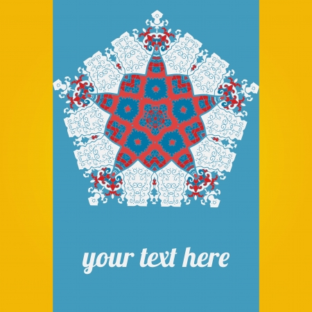 Light Blue ornate frame with sample text  Perfect as invitation or announcement  Background pattern is included as seamless  All pieces are separate  Easy to change colors and edit Stock Vector - 18471710