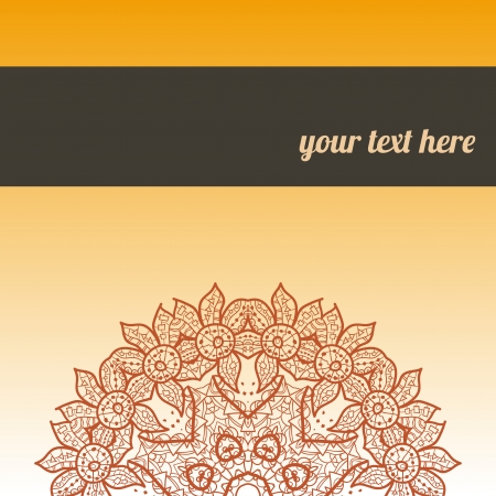 ornate frame with sample text  Perfect as invitation or announcement  All pieces are separate  Easy to change colors and edit Stock Vector - 18471916