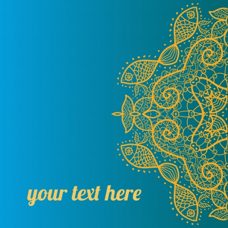 Light Blue ornate frame with sample text  Perfect as invitation or announcement  All pieces are separate  Easy to change colors and edit Stock Vector - 18471913