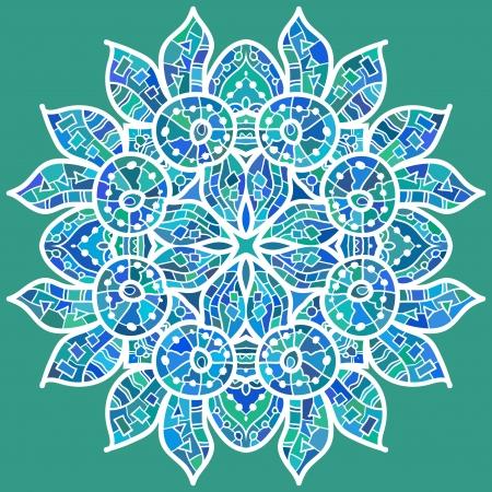 realización: Peces Ornamentales patr�n de encaje redondo, c�rculo de fondo, encaje hecho a mano de ganchillo, de encaje con motivos arabescos oriental ornamento tradicional en la realizaci�n moderna - �Qu� es el karma