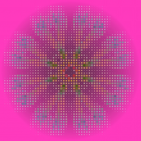 Vector seamless cracked multi colored pattern in red and pink Vector