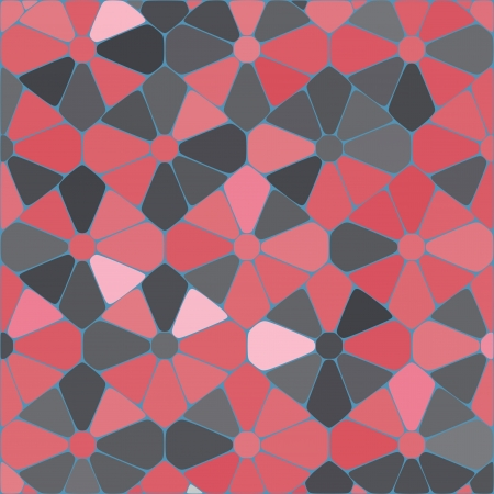 seamless cracked multicolored pattern in red and pink Vector