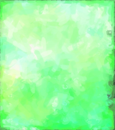 Green abstract watercolor background paper design of bright color splashes modern art painted canvas background texture atmosphere art photo