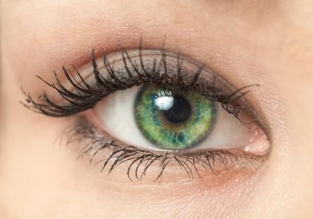 the eye of beautiful young woman photo