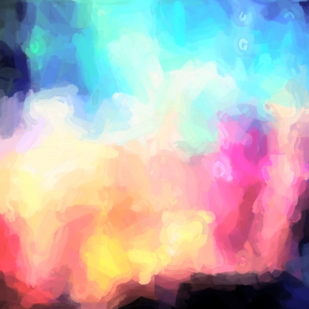 abstract watercolor background paper design of bright color splashes in mixed colours photo