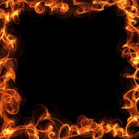 flamboyant: achtergrond brand kader Stock Illustratie