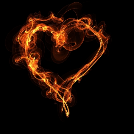 Fire Heart Stock Vector - 18726464