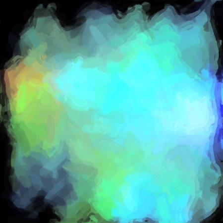 abstract color background of mixed colors like watercolor paint. Spots of light gently mixed on the square backdrop photo