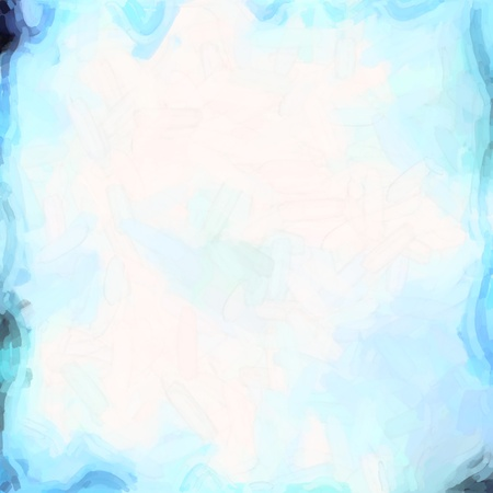 watercolor background: abstract color background of mixed colors like watercolor paint. Spots of light gently mixed on the square backdrop Stock Photo