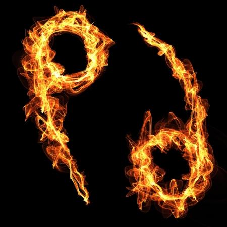 fire zodiac sign Cancer.  Stock Vector - 18891588