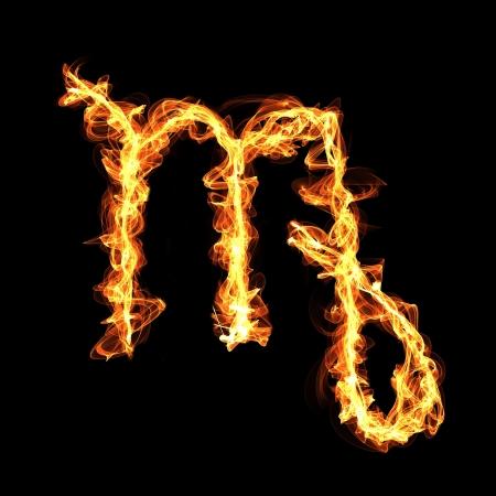 gas barbecue: fire zodiac sign Virgo.