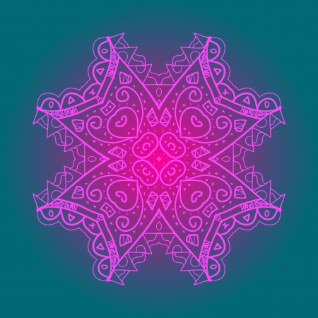 what is karma: Oriental mandala motif round lase pattern on the blue background, like snowflake or mehndi paint in light-blue color  Ethnic backgrounds native art concept  What is karma