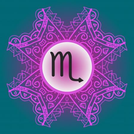 signes du zodiaque: Le signe du zodiaque Scorpion Scorpion Aigle Qu'est-ce que le karma signe du zodiaque sur orner mandala Oriental