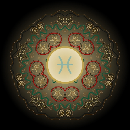 karma design: fish pisces astrology sign
