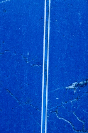 Blue glossy stone wall or floor in bath room photo