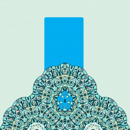 Vintage half of mandala with place for your text  eps10 Stock Vector - 20165528