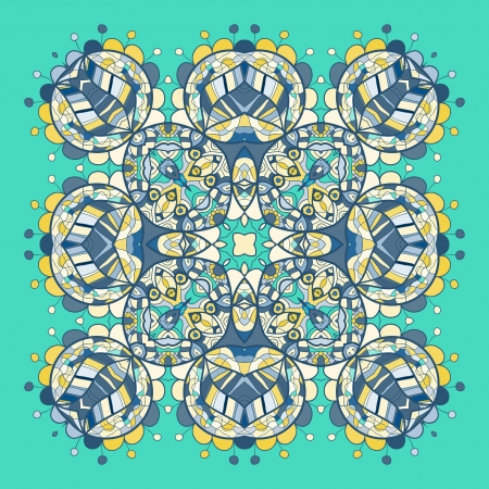 Vintage mandala of green emerald  color with place for your text Stock Vector - 20165513